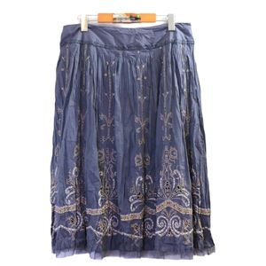 Peter nygard embroidery maxi skirt size 10 Med